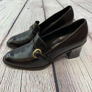 🎉Cole Haan Brown Loafers w/ Chunky Heel